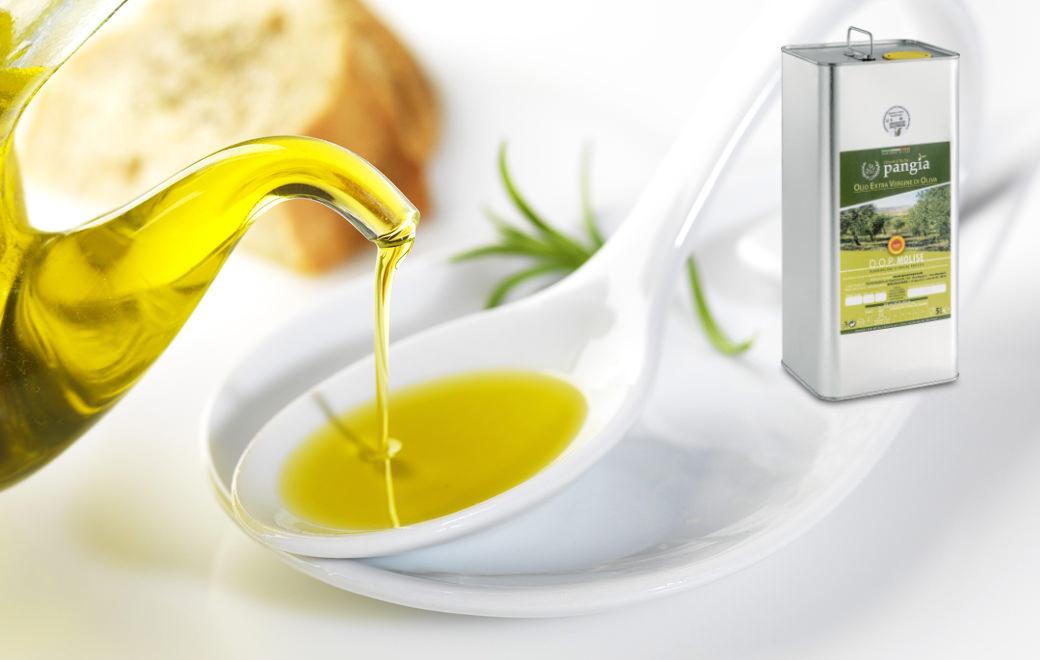 Olio extra vergine d'oliva italiano. Extra virgin olive oil Pangia - Italy / Extra natives Olivenöl Pangia - Italien. OLIO PANGIA.